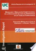 Modelado y Simulación Computacional de la Evacuación en caso de Emergencia en Túneles Ferroviarios