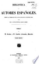 Obras de D. Nicolás y D. Leandro Fernández Moratín