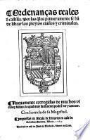 Ordenanças reales de Castilla
