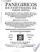 Panegiricos en festividades de varios santos