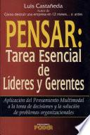 Pensar, tarea esencial de lideres y gerentes / Think, which was Critical of Leaders and Managers