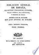 Poblacion general de Espana ...