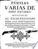 Poesias varias de Iosef Navarro ...