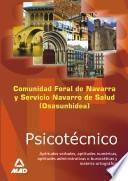Psicotecnico de la Comunidad Foral de Navarra Y Del Servicio Navarro de Salud (osasunbidea) Ebook