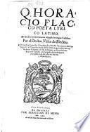 Q. Horacio Flacco ... Sus obras