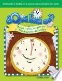 ¿Qué hora es? (What Time Is It?) (Spanish Version)