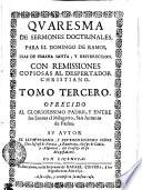 QVARESMA DE SERMONES DOCTRINALES