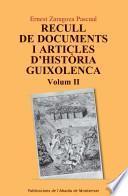 Recull de documents i articles d'història guixolenca