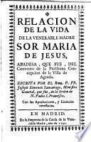 Relación de la vida de Sor Maria de Jesús