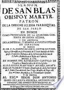 Sermon de San Blas obispo y martyr