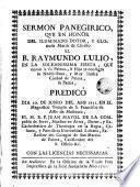 Sermon panegirico