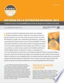 Sinopsis: Informe De La Nutrición Mundial 2014