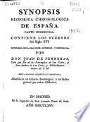 Synopsis historica chronologica de España