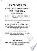 Synopsis Historica Chronológica de España