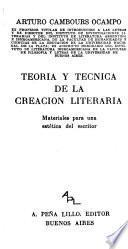 Teoría y técnica de la creación literaria