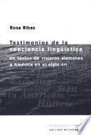 Testimonios de la conciencia lingüistica en textos de viajeros alemanes a America en el siglo XVI