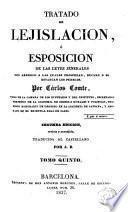 Tratado de lejislación [sic] ó Esposición [sic] de las leyes jenerales [sic]