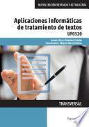 UF0320 - Aplicaciones informáticas de tratamiento de textos