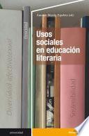 Usos sociales en educación literaria