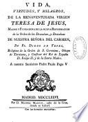 Vida de la bienaventurada Virgen Teresa de Jesus